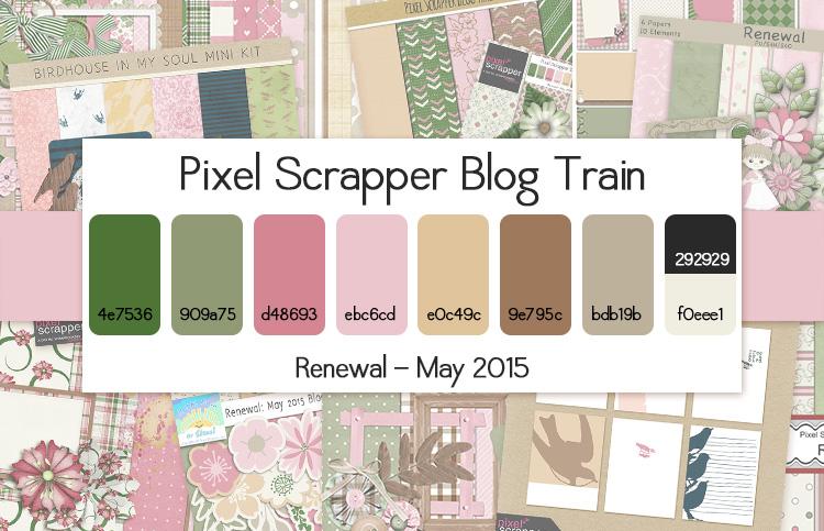 Pixel Scrapper May 2015 Blog Train