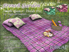 """@ Color Me Project ~ [CIRCA] - """"French Garden"""" - Cuddle Blanket - Florals (PG)"""