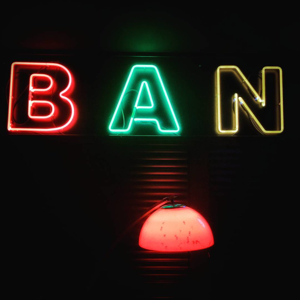 Ban The lamp  #plastic #plasticmilano #neon #light #darkness