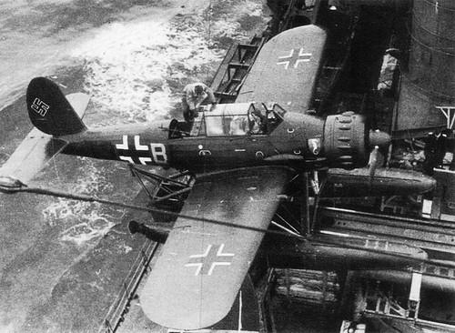 Seaplane Arado Ar 196A-3 on the German Battleship Tirpitz 1941