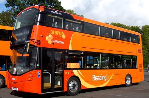SK66 HRR 'Reading buses' No. 901 Wright StreetDeck on 'Dennis Basford's railsroadsrunway.blogspot.co.uk'