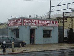 LIRR Richmond Hill freight station (Snack Time Grill)