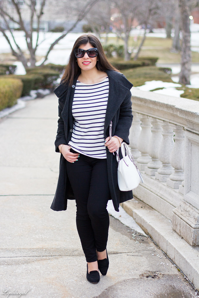 striped shirt, black pants, ferragamo pumps-1.jpg