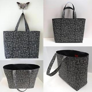 In Black and White #Custom #totebag #surfacedesign #spoonflower #art #original #sewing