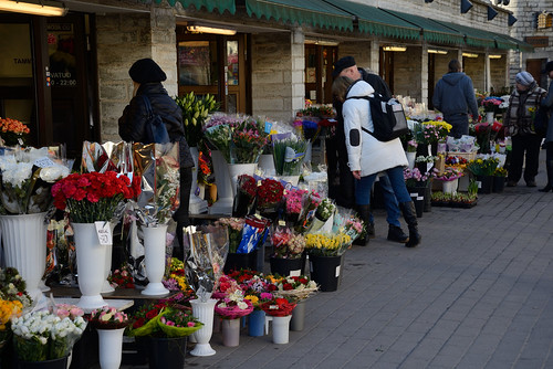 Flower market in Tallinn Old Town