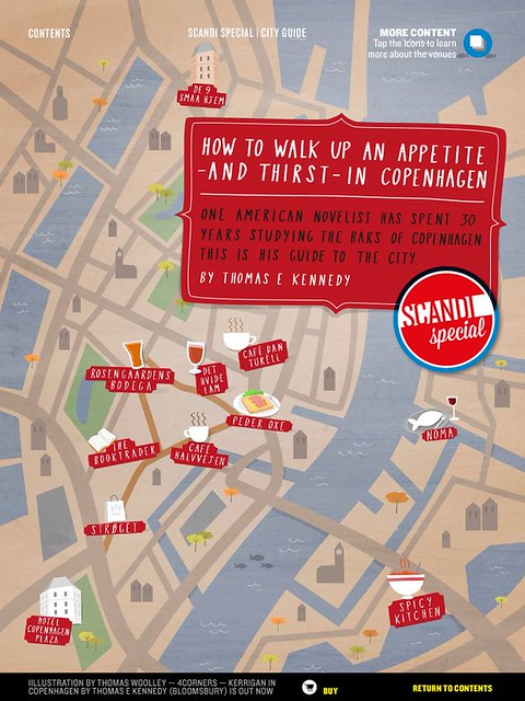 Food and Drink map of Copenhagen for Esquire