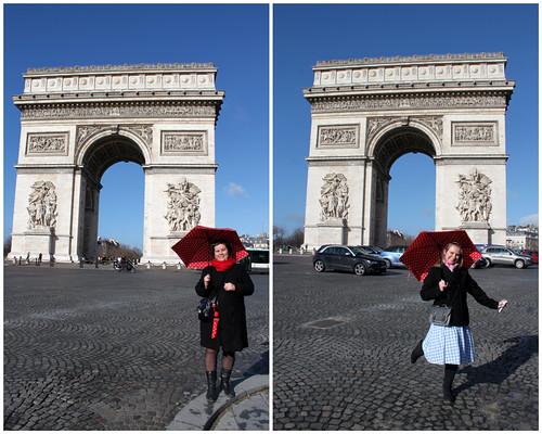 Arc de Triomphe in the Sun
