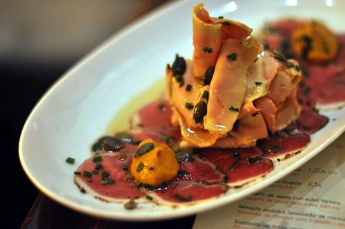 Foie gras, andebryst og græskar