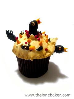 Four and Twenty Blackbirds baked in a Pie cupcake