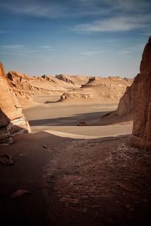 Yellow car, Lut Desert, Iran