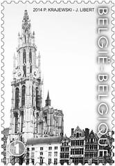 16 Markt Van Antwerpen timbre zb  foto