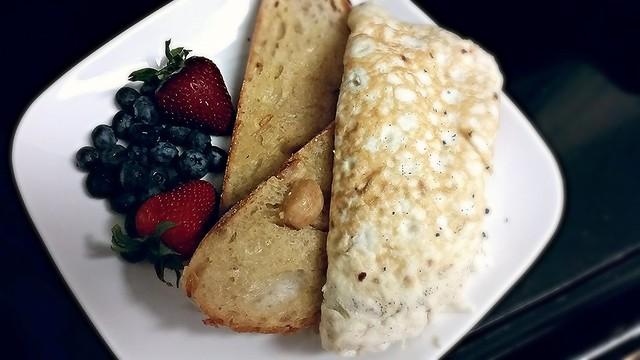 Ham egg white omelette