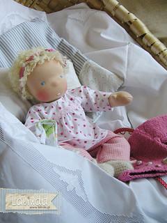 Ida- waldorf baby doll made by Lalinda.pl