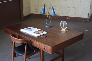 Distinguished Peter Lovig Nielsen Danish Midcentury Modern Fliptop Partners Desk for Dansk (Denmark, 1970s)