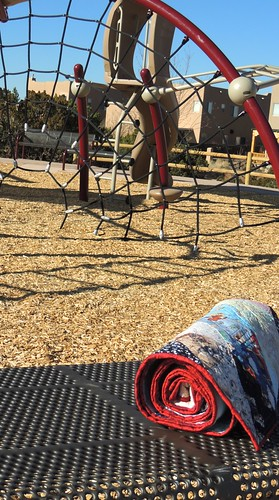 At the neighborhood playground