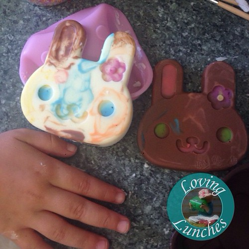 Loving a little #Easter tradition fun… chocolate moulding with Miss M �� These are our @daisoaustraliaofficial silicons ��
