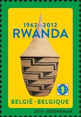 10a Rwanda 1962-2012 timbre