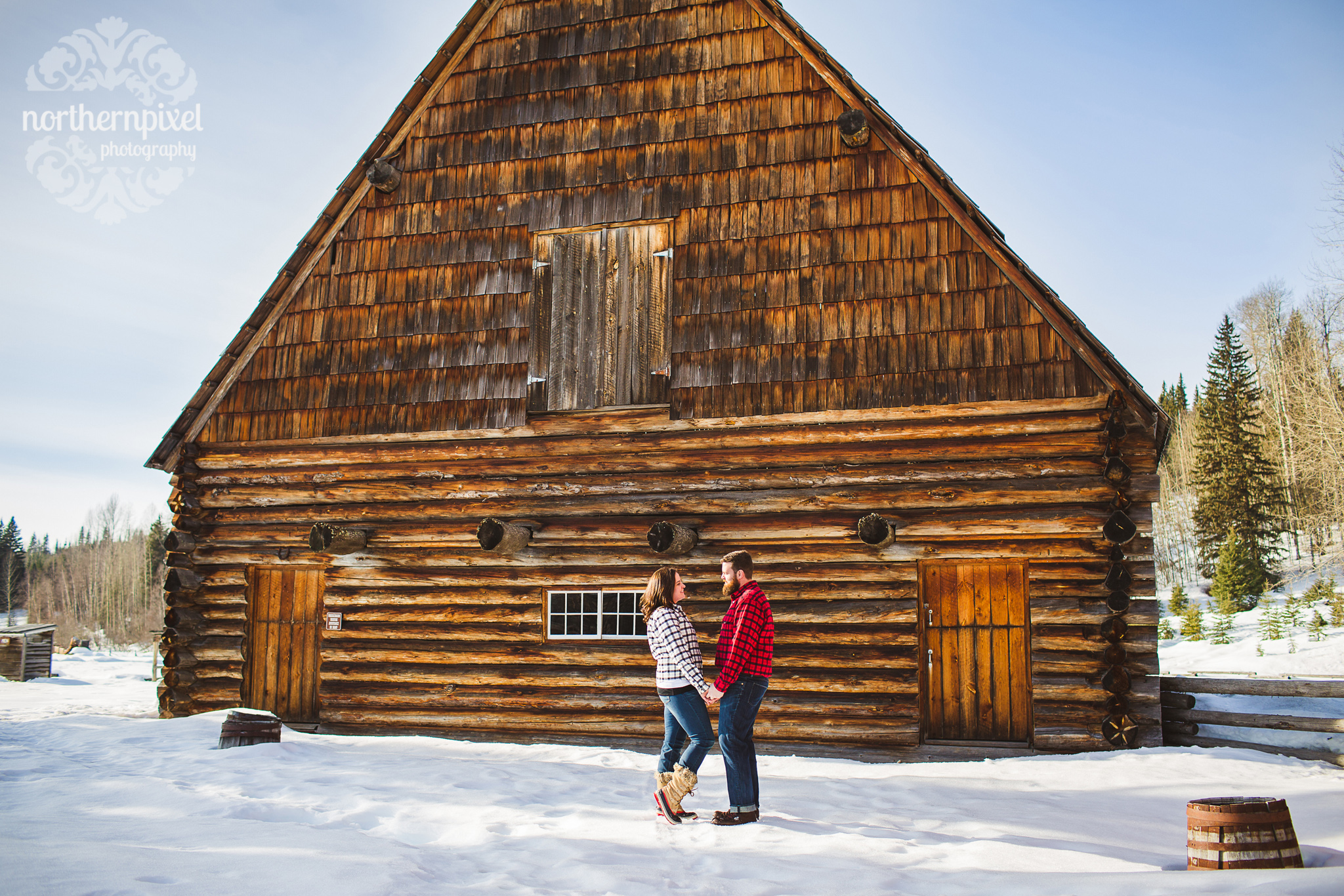 Huble Homestead Winter Engagement Session