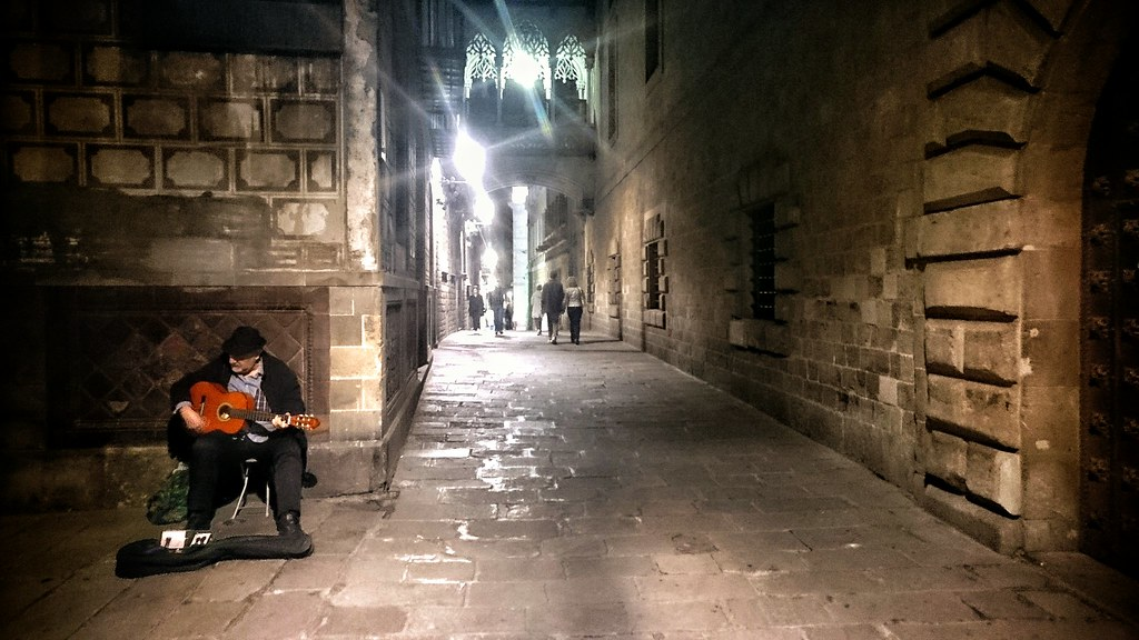 The streets of Barcelona.