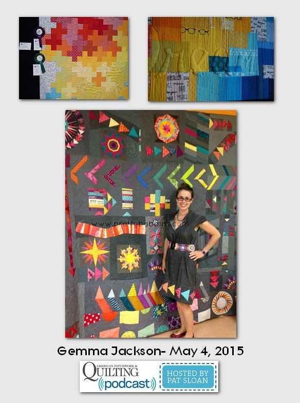 American Patchwork and Quilting Pocast guests Gemma Jackson May 2015