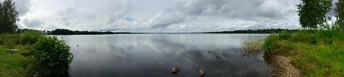 panorama pieksämäki lake nature clouds