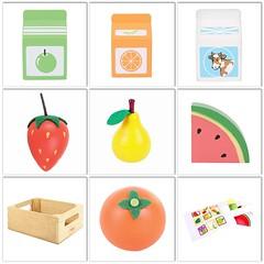 Påfyllt i matförråden här på Smultronbyn! :tangerine::pear::strawberry::banana::watermelon: Välj fritt och plocka ihop de matvaror du vill ha och kanske om du vill ha en shoppingpåse eller matlåda till? 19-25 kr/styck. 45 kr för matlådan. #matleksaker #tr