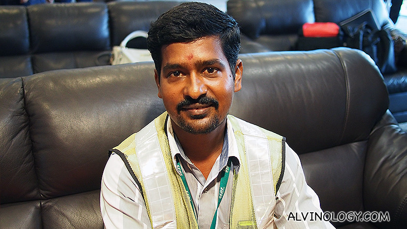 Construction worker Shanmuganathan is from Sivagangai, Tamil Nadu.