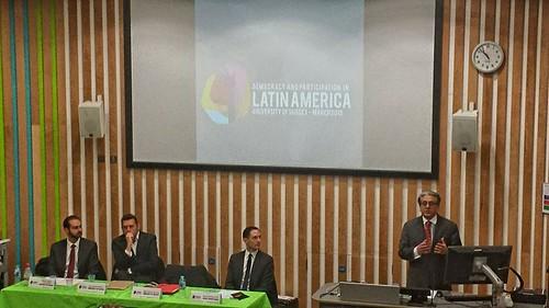 Conferencia sobre democracia en México y Latinoamérica, RU