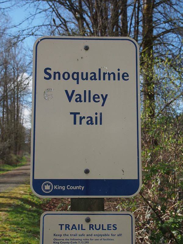 Snoqualmie Valley Trail Sign: OLYMPUS DIGITAL CAMERA