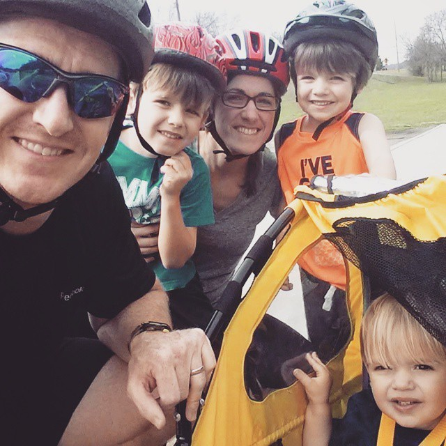 First family bike ride for 2015 in the books. #mboys2015
