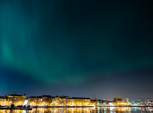 Aurora borealis in Helsinki