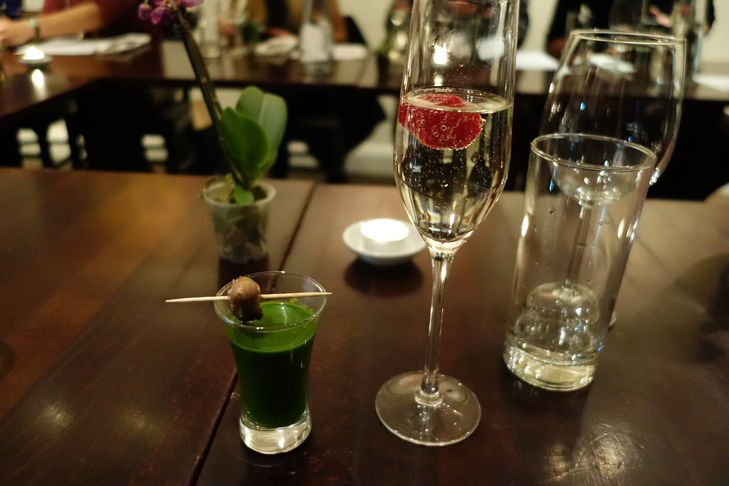 Green Soup with Chicken Heart and Prosecco, Pure Taste, Westbourne Grove