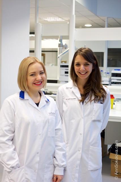 26 Oriflame Stockholm Press Tour, Skin Research Institute Dr. Lucie Duracher and Ann Sokolova