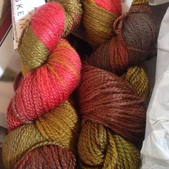 Something beautiful was in my mail yesterday. #yarnbox #yarn #knittersofinstagram