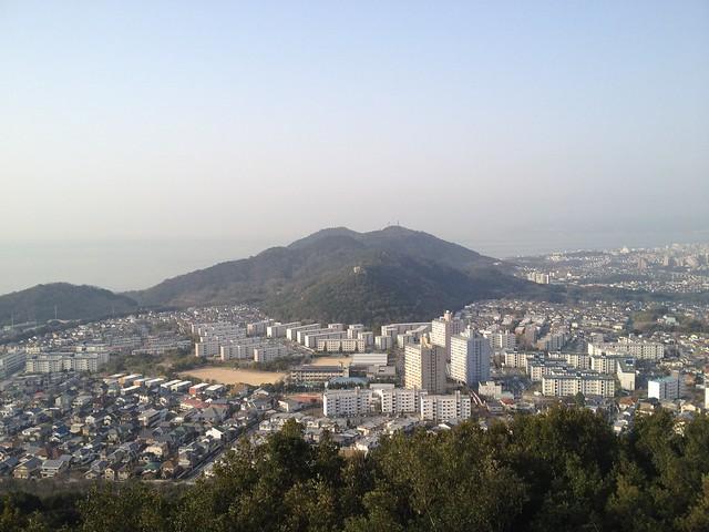 六甲全山縦走路 栂尾山より高倉山、鉄拐山、旗振山