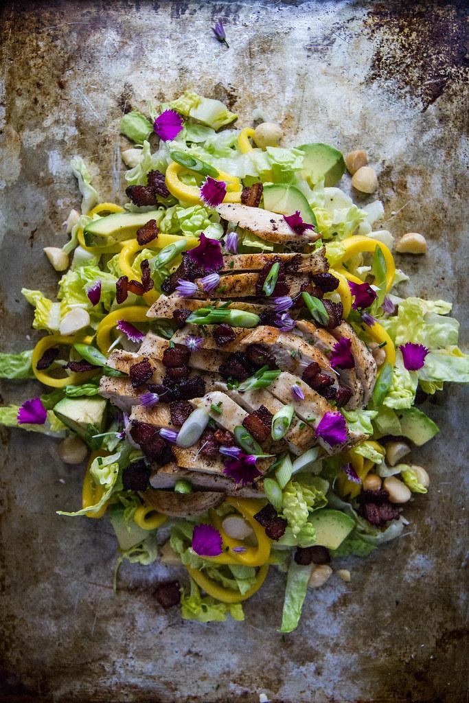 Hawaiian Chicken Chop Salad