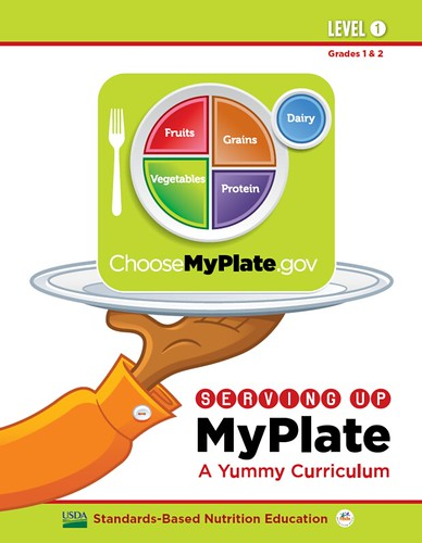 The Serving Up MyPlate curriculum is available in 3 levels; Level 1 (grades 1-2), Level 2 (grades 3-4), and Level 3 (grades 5-6).  Each curriculum includes a teacher's guide, games, songs, posters and parent handouts.
