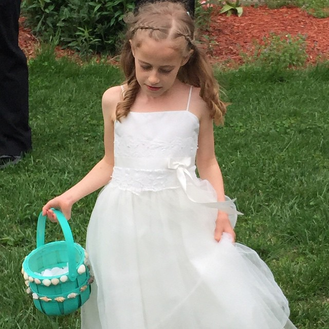 She made a beautiful flower girl today...
