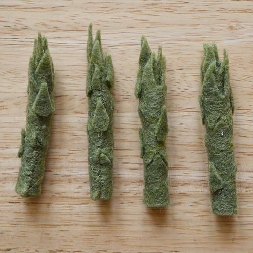 Completed Felt Asparagus