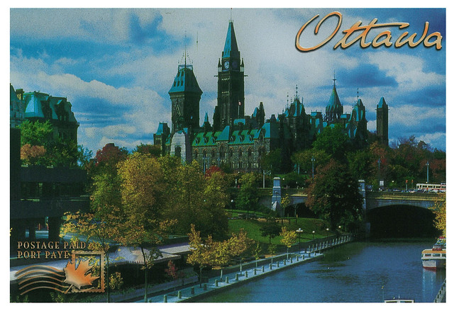 Canada - Ottawa - Parliamnet Buildings from Rideau Canal