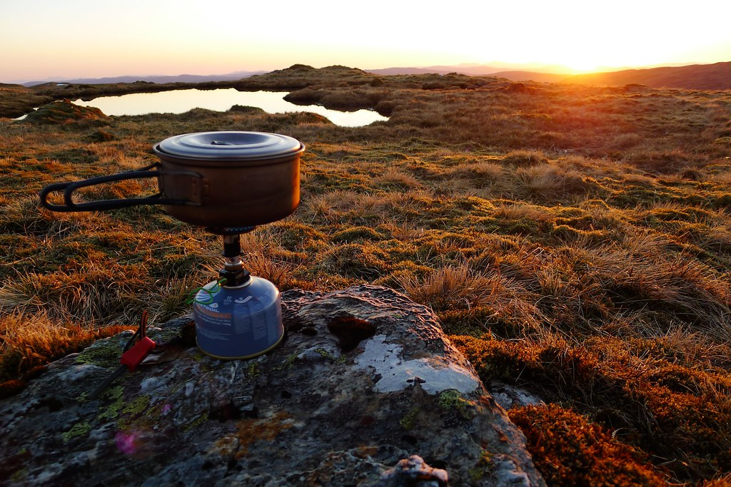 Stove at sunset