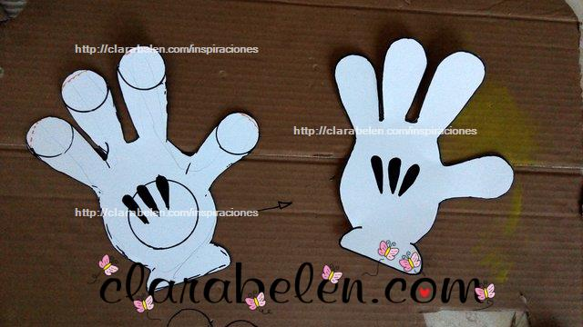 Cómo dibujar el guante de Mickey Mouse paso a paso