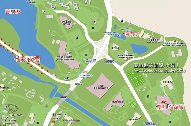慶州K飯店地圖