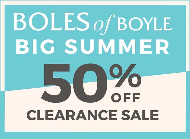 Boles Big Summer Sale