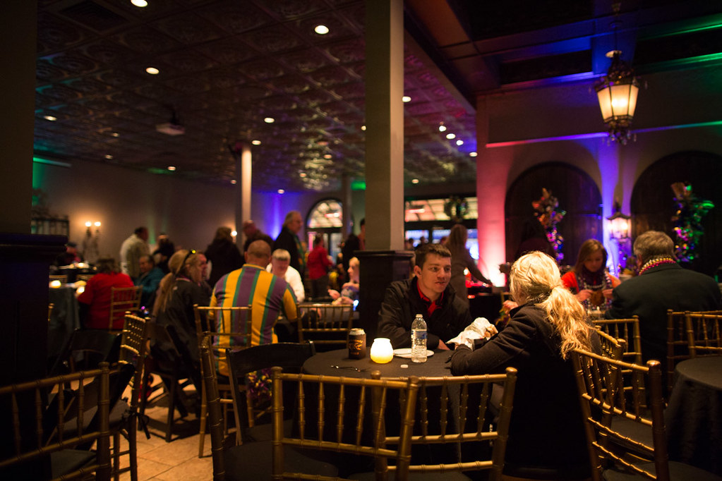 Inside Bourbon Vieux during Mardi Gras Balcony Party