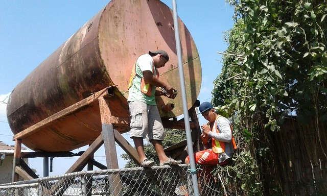 En Bellavista Alta construyen ampliación de red del agua potable