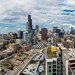 A skyline view from 1000 South Clark by YoChicago