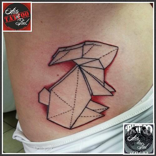 #conejo #origami #costillas #tattooarteypiel #tatuajes #artisticos #leviathoth #isaaccelis #aguascalientes #mexico #tattooink #tattooart #tattooist #tattoo