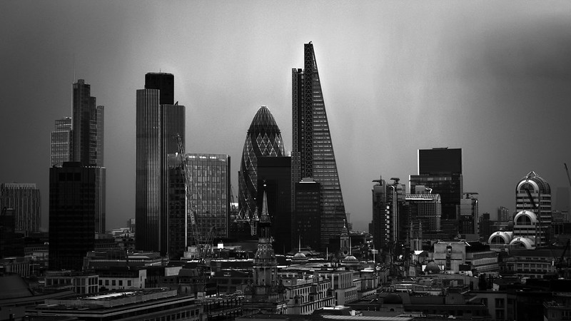 London from St. Paul B/W