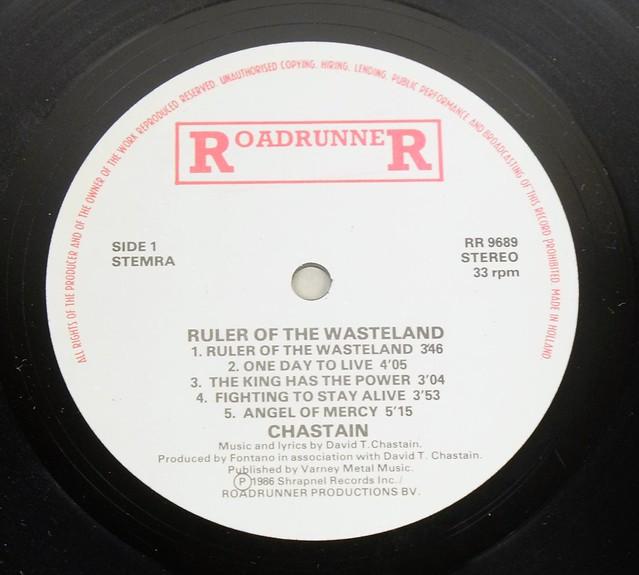 "CHASTAIN RULER OF THE WASTELAND 12"" LP ALBUM VINYL"
